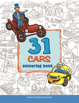 31 Cars colouring book 1