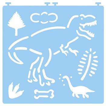 Desenez dinozauri - cu șabloane 4