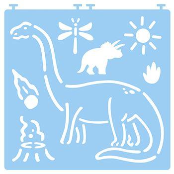 Desenez dinozauri - cu șabloane 3