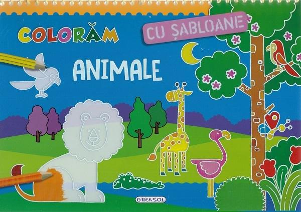 GIRASOL -Coloram cu sabloane: Animale 1