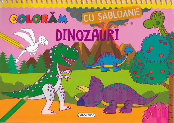 GIRASOL - Coloram cu sabloane: Dinozauri 1