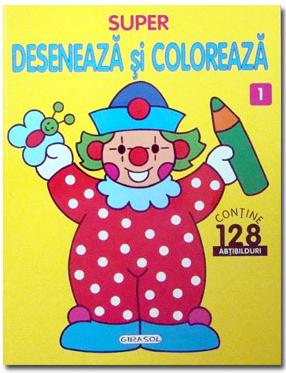 GIRASOL - Super deseneaza si coloreaza 1 1